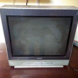 Hitachi c21 tf330a. Белый экран с линиями обратного хода
