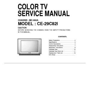 Схема телевизора MC993A