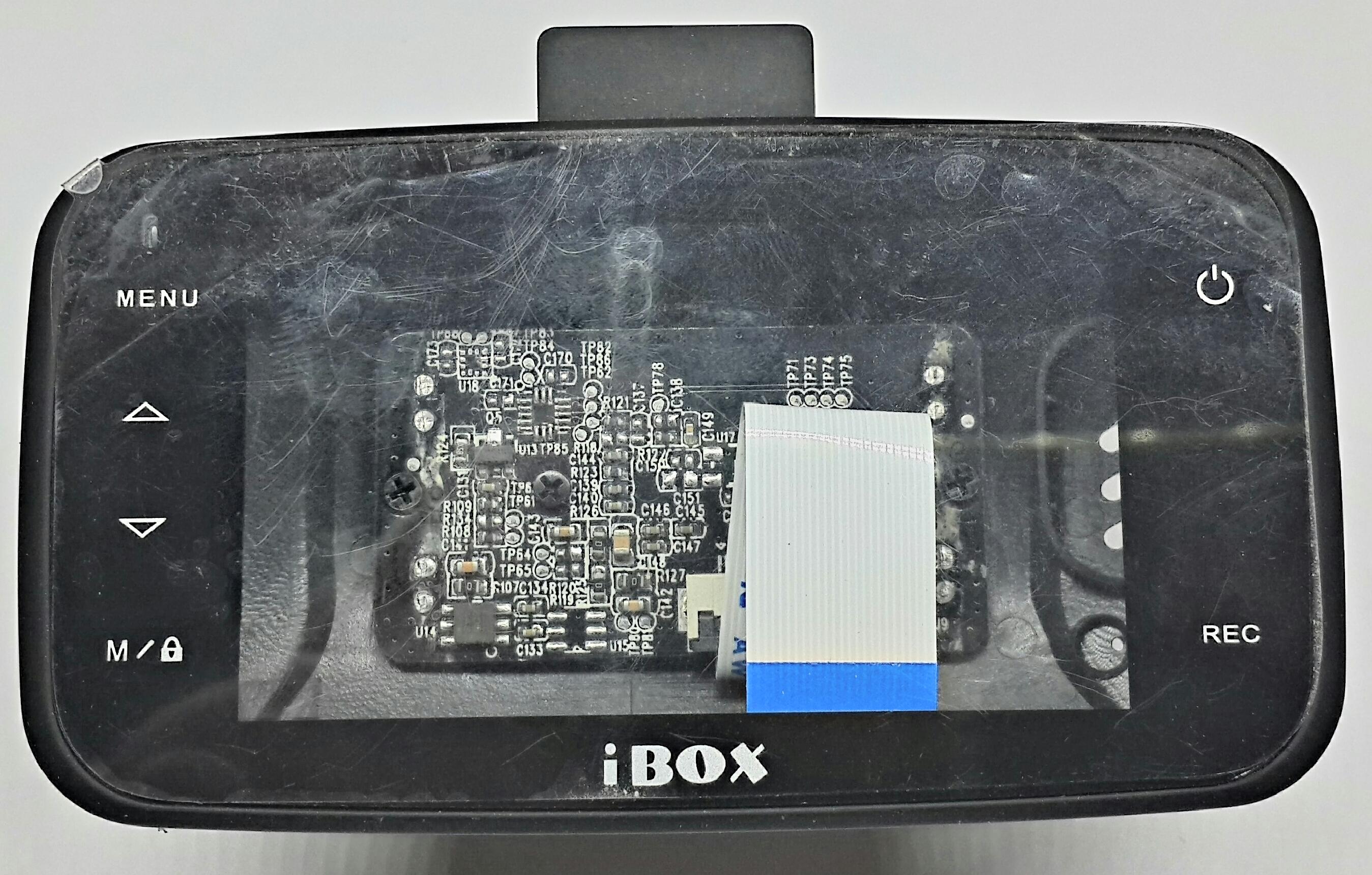 Видеорегистратор iBOX Z-707. Вид сзади + Плата видеокамеры.