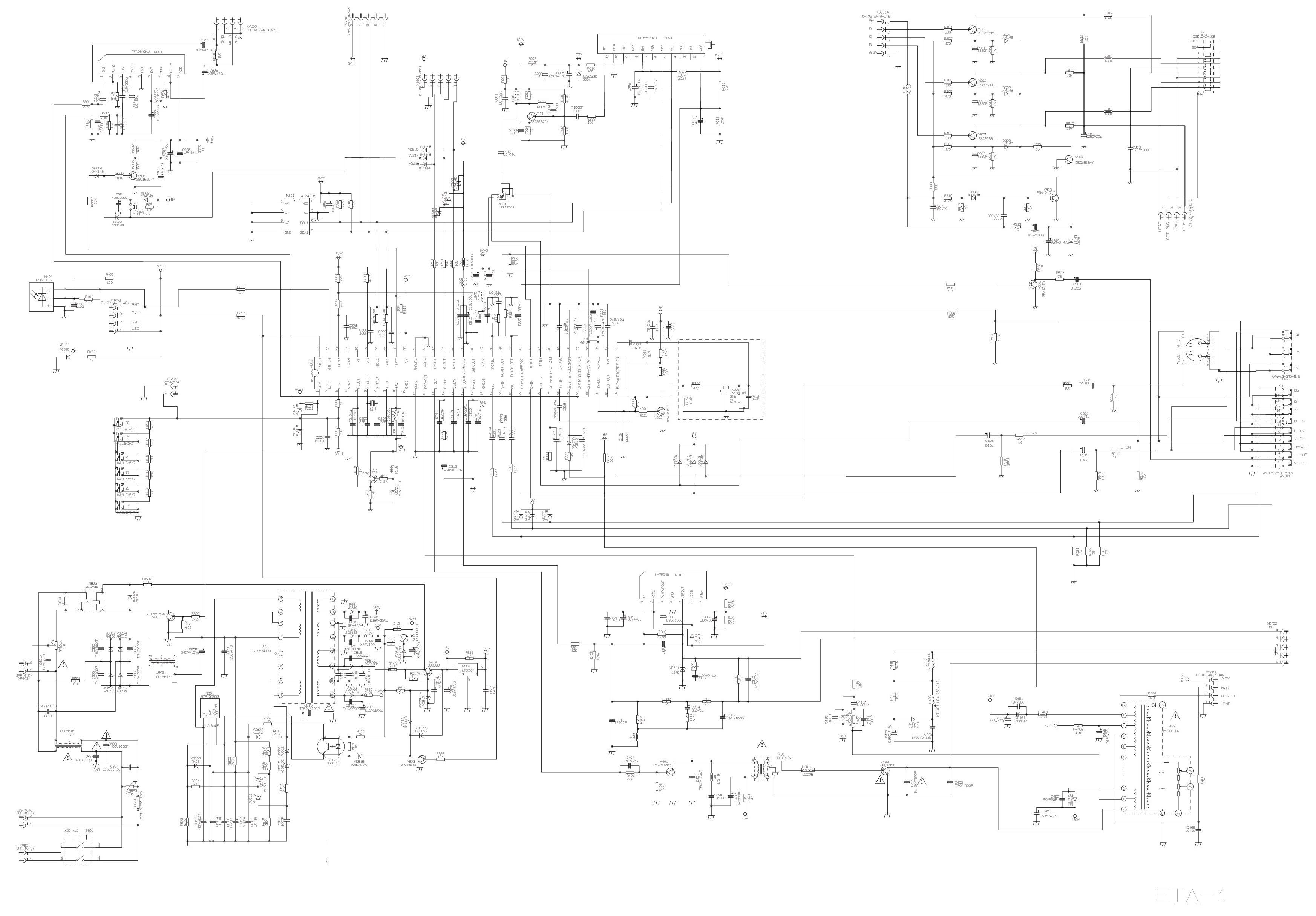 Схема шасси ETA-1